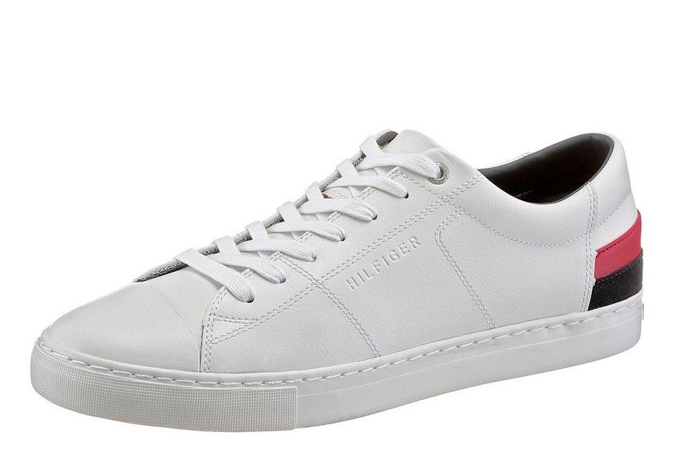 Tommy Hilfiger Sneaker in weiß-dunkelblau-rot