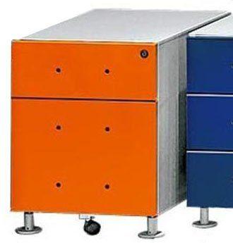 Kasper-Wohndesign Rollcontainer mit 1 Schublade und HR Ablage in orange »MIX«