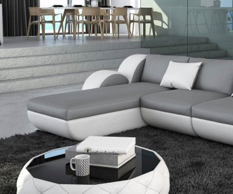 delife couch nashville grau weiss 270x190 cm otto. Black Bedroom Furniture Sets. Home Design Ideas