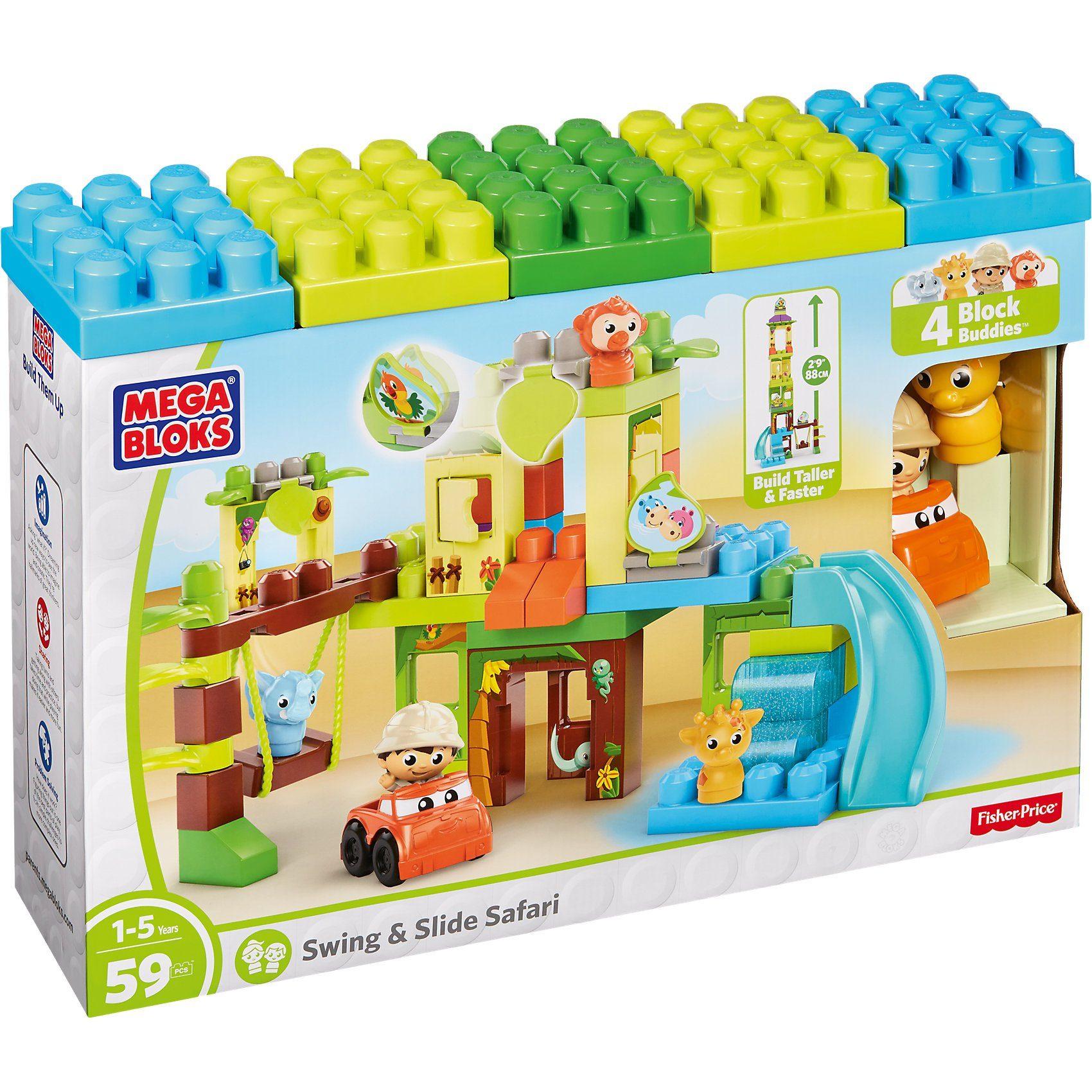 Mattel® Mega Bloks Schaukel und Rutsche Safariset