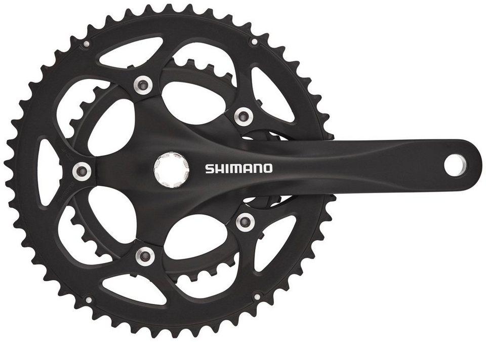Shimano Kurbel »FC-R345 Kurbelgarnitur 50/34 2x9-fach«