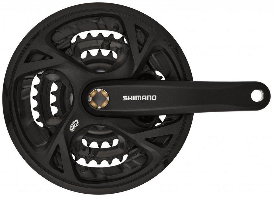 Shimano Kurbel »FC-M371 Kurbelgarnitur Trekking Vierkant 9-fach«