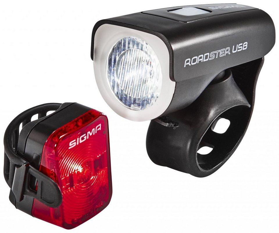 Sigma Sport Fahrradbeleuchtung »Roadster/Nugget USB Beleuchtungsset«
