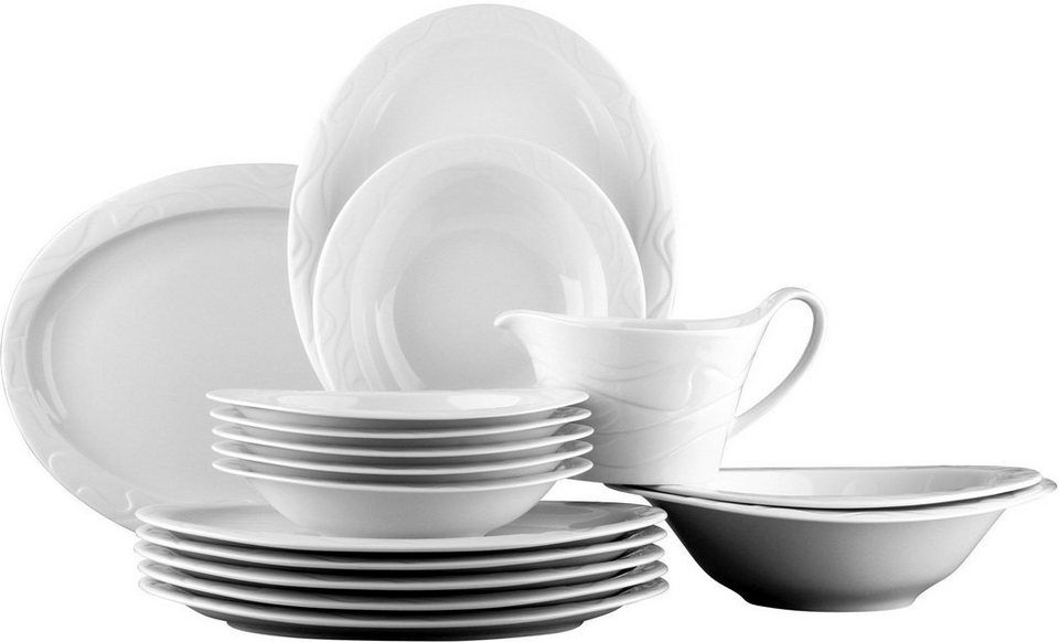 Seltmann Weiden Tafelservice, 16-teilig, »ALLEGRO« in weiß