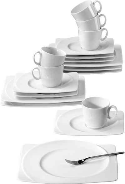 Seltmann Weiden Kaffeeservice »PASO« (18-tlg), Porzellan, Spülmaschinengeeignet