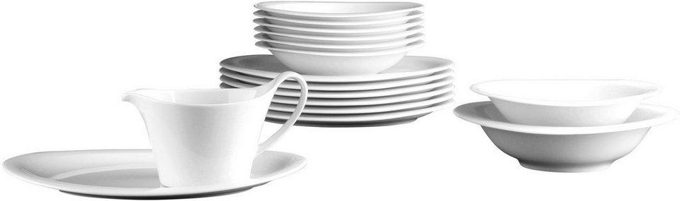Seltmann Weiden Tafelservice, Porzellan, 16-teilig, »TOP LIFE« in weiß
