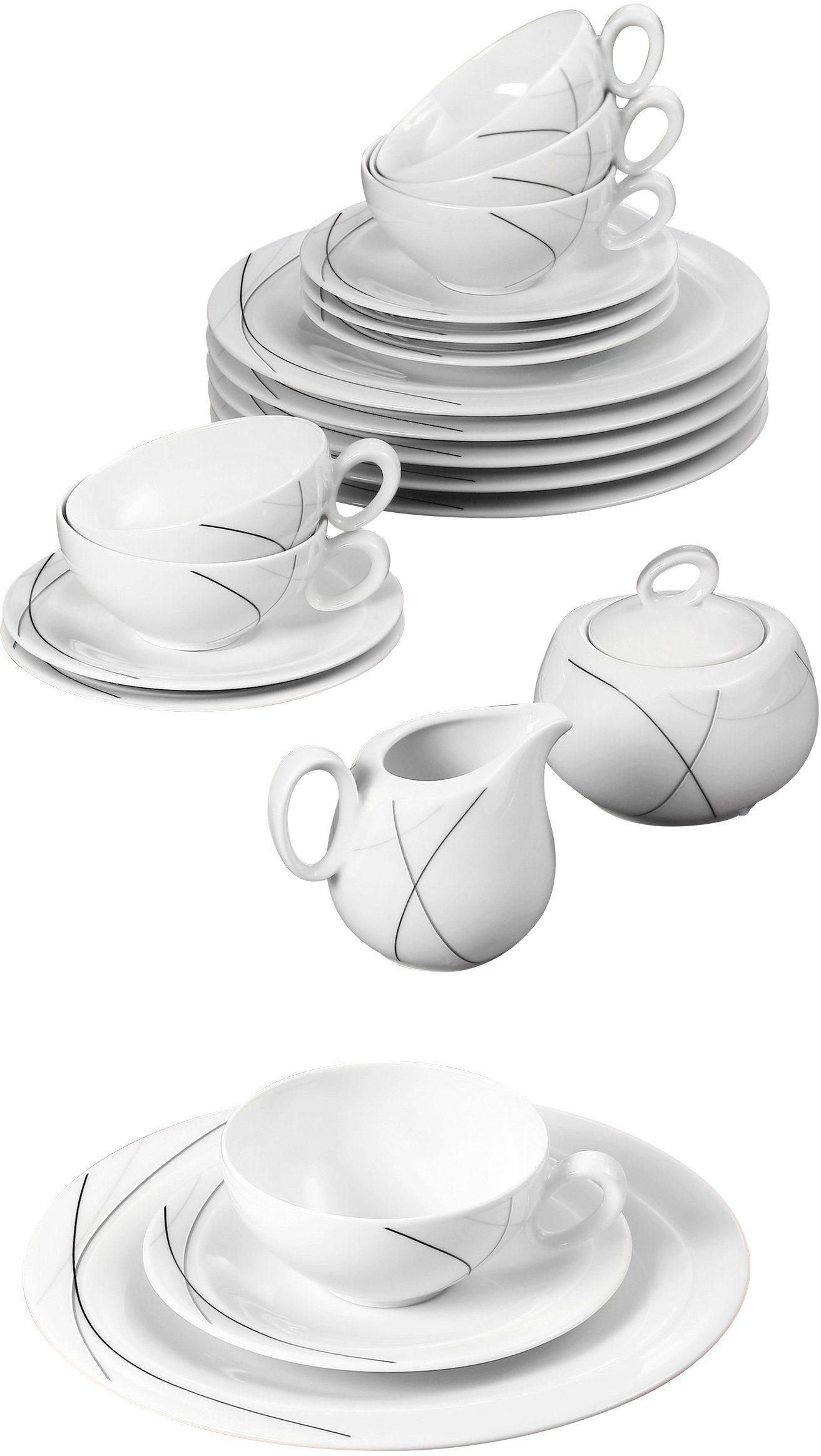 Seltmann Weiden Teeservice, Porzellan, 20-teilig, »TRIO HIGHLINE«