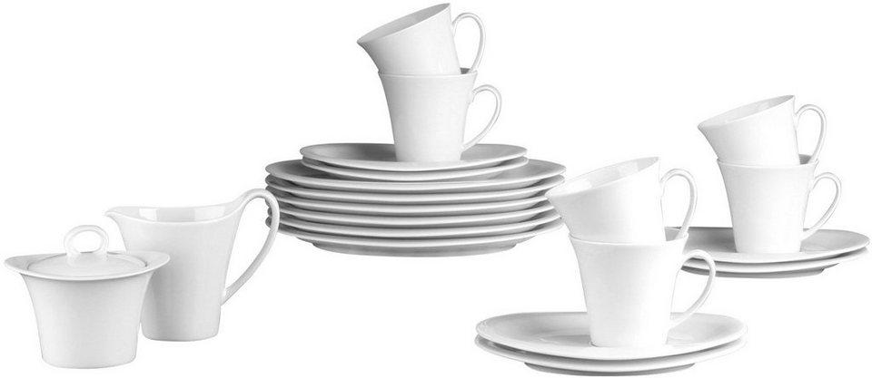 Seltmann Weiden Kaffeeservice, Porzellan, 20-teilig, »TOP LIFE« in weiß
