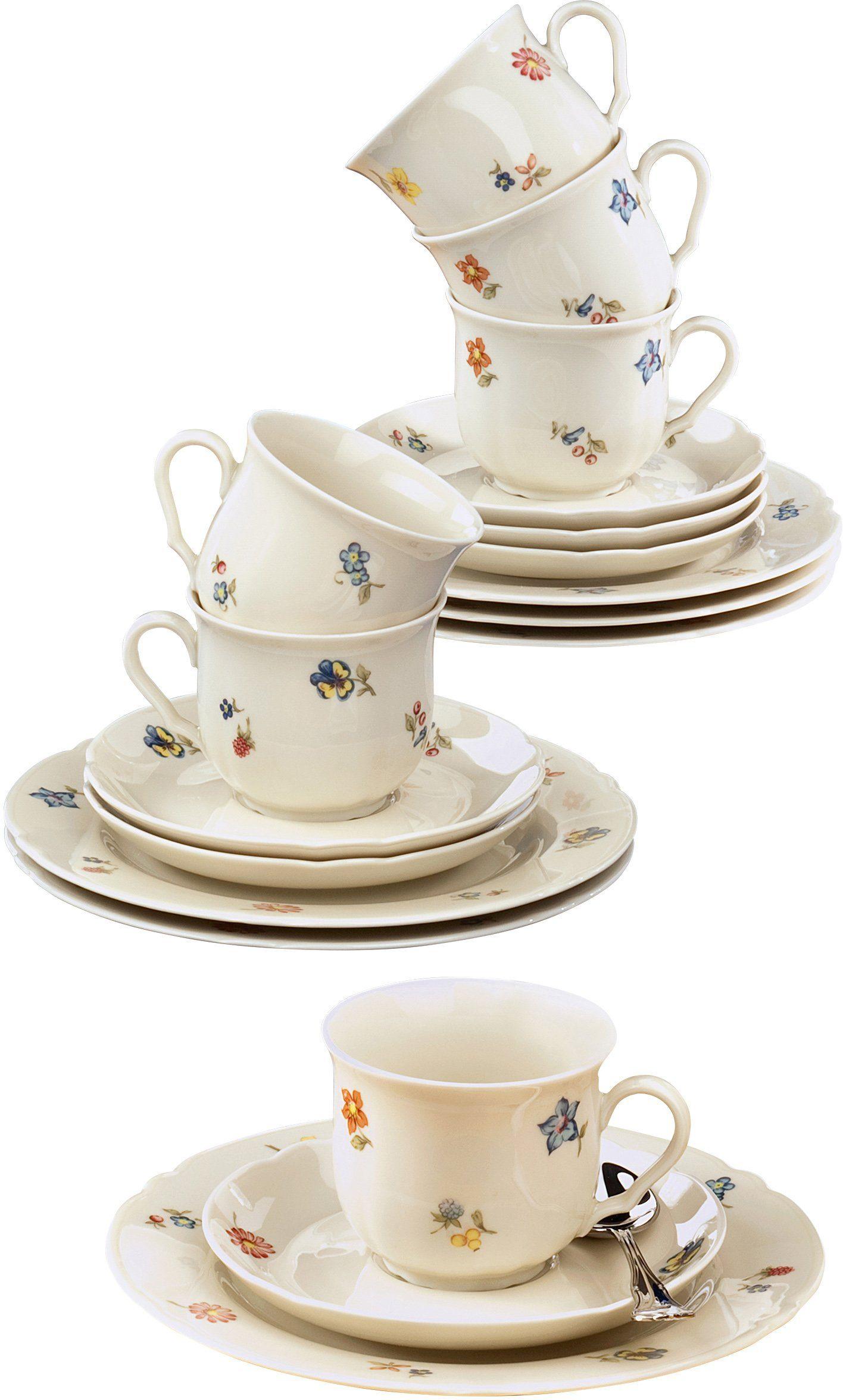 Seltmann Weiden Kaffeeservice, Porzellan, 18-teilig, »MARIELUISE«