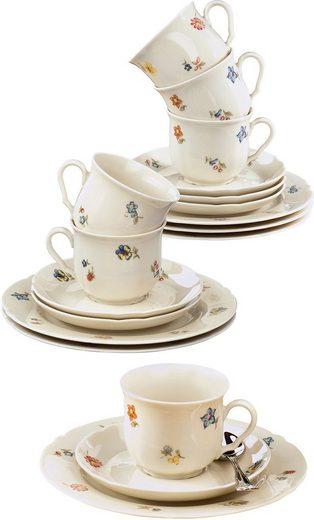 Seltmann Weiden Kaffeeservice »Marieluise« (18-tlg), Porzellan, Made in Germany