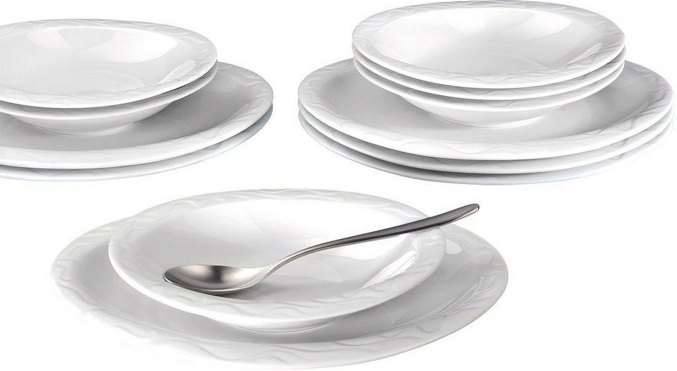 Seltmann Weiden Tafelservice, 12-teilig, »ALLEGRO« in weiß