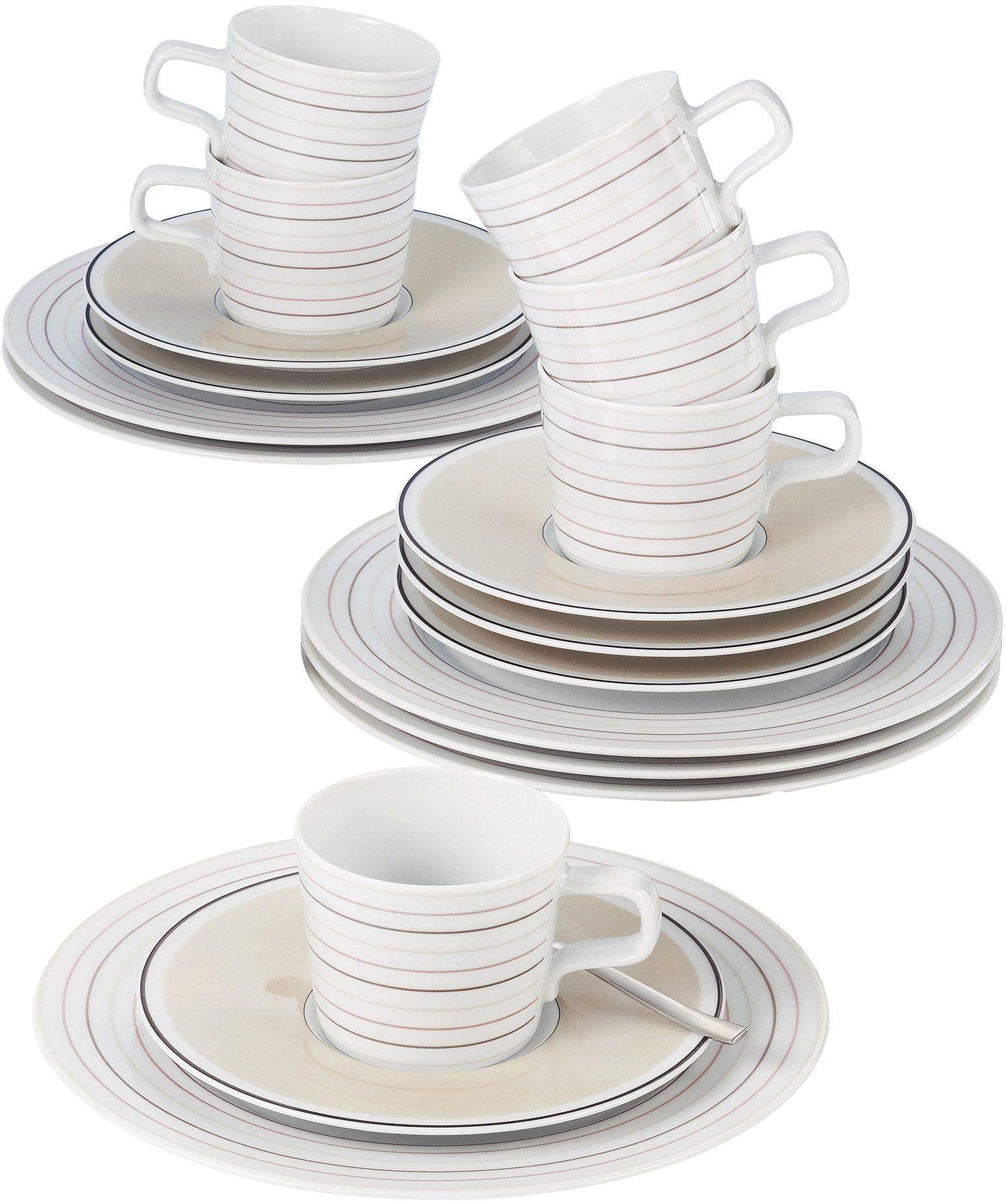 Seltmann Weiden Kaffeeservice, Porzellan, 18-teilig, »NO LIMITS Creame lines«