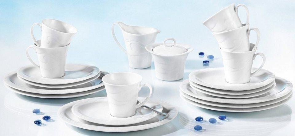Seltmann Weiden Kaffeeservice, 20-teilig, »ALLEGRO« in weiß