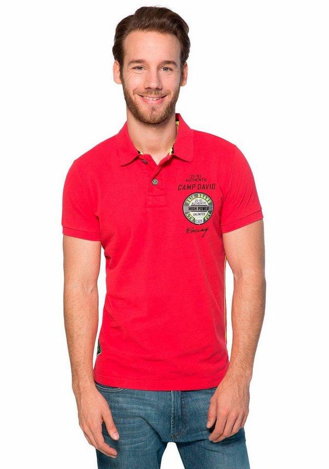 CAMP DAVID Poloshirt in rot