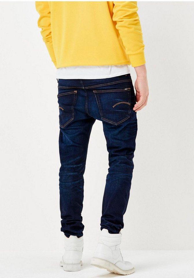 G-Star Slim-fit-Jeans »3301 Slim« in blue-aged