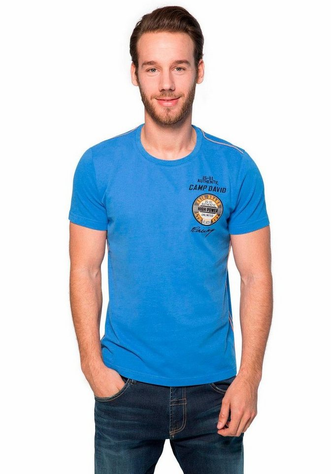 CAMP DAVID T-Shirt in blau