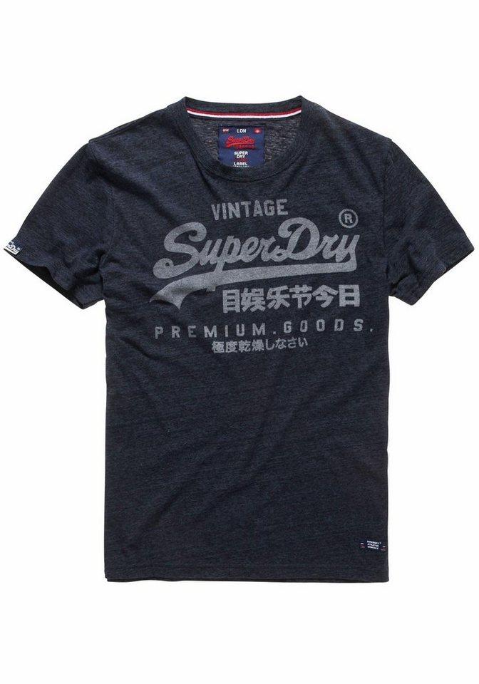 Superdry T-Shirt »PREMIUM GOODS TEE« in navy-meliert