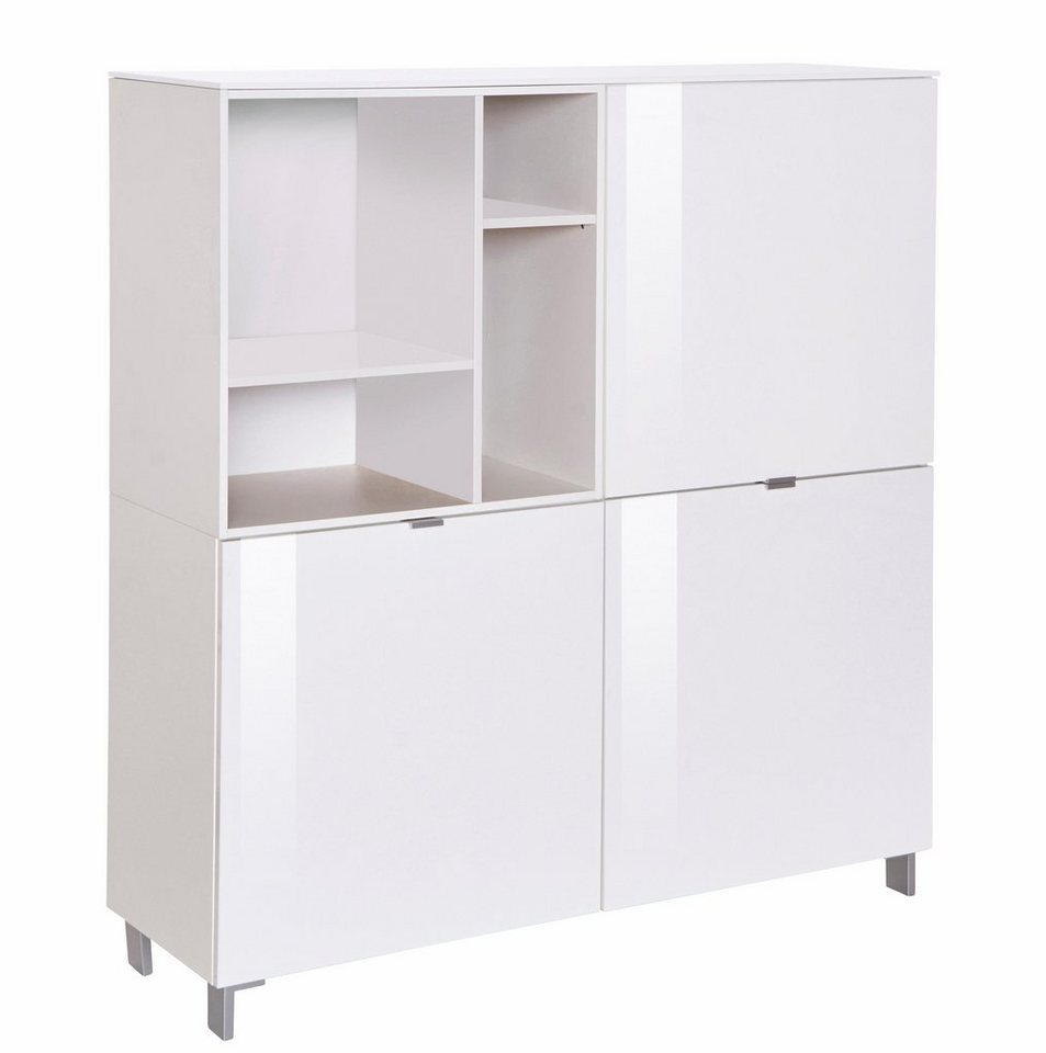Set One By Musterring Highboard Colorado Front Hochglanz Mit