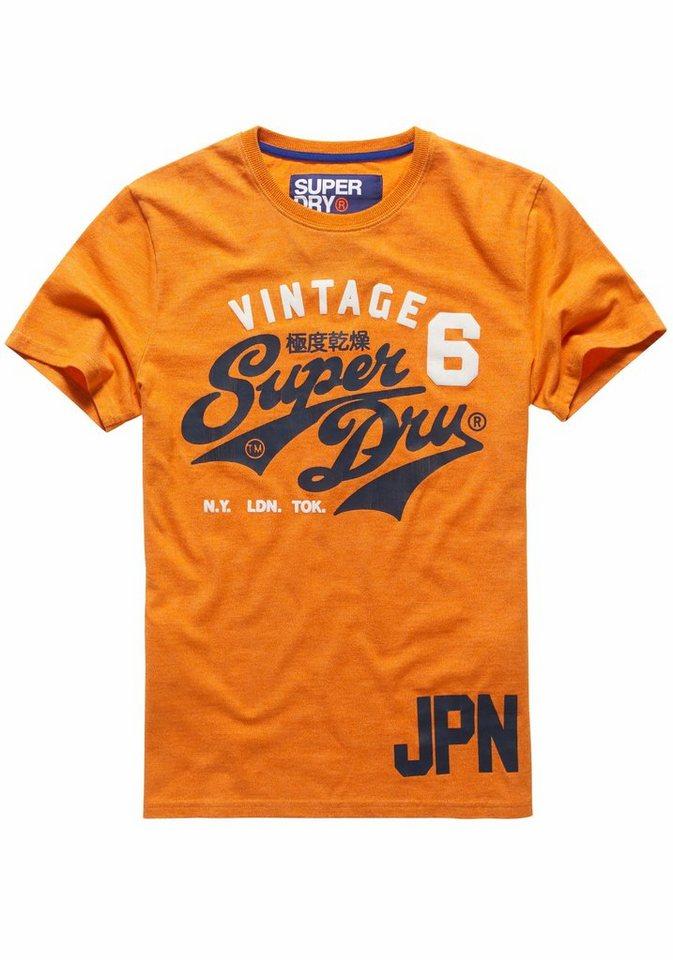 Superdry T-Shirt »STACKER DUO REWORK CLASSIC TEE« in orange