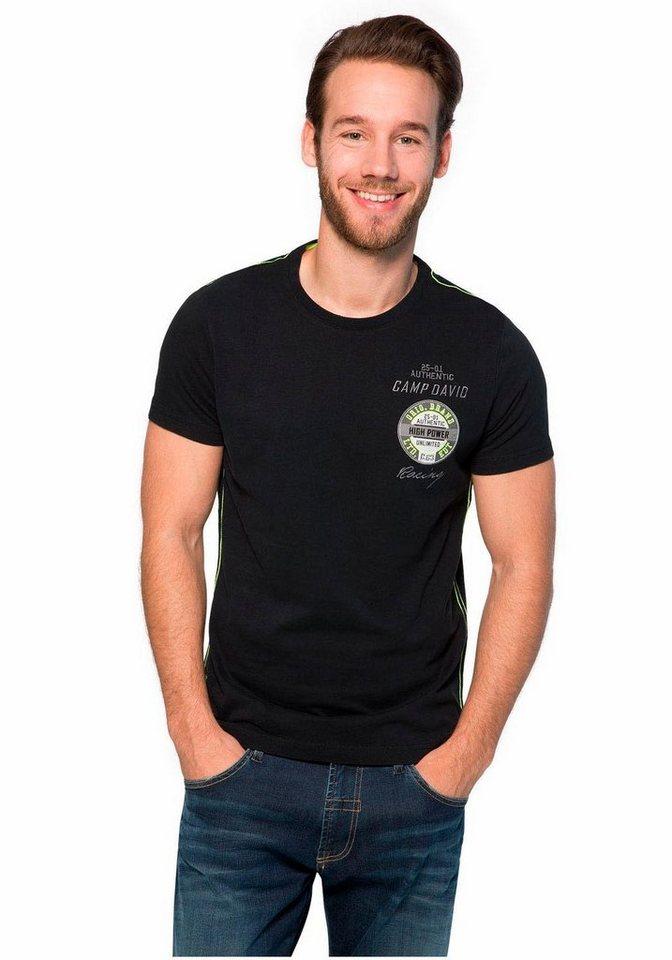 CAMP DAVID T-Shirt in schwarz