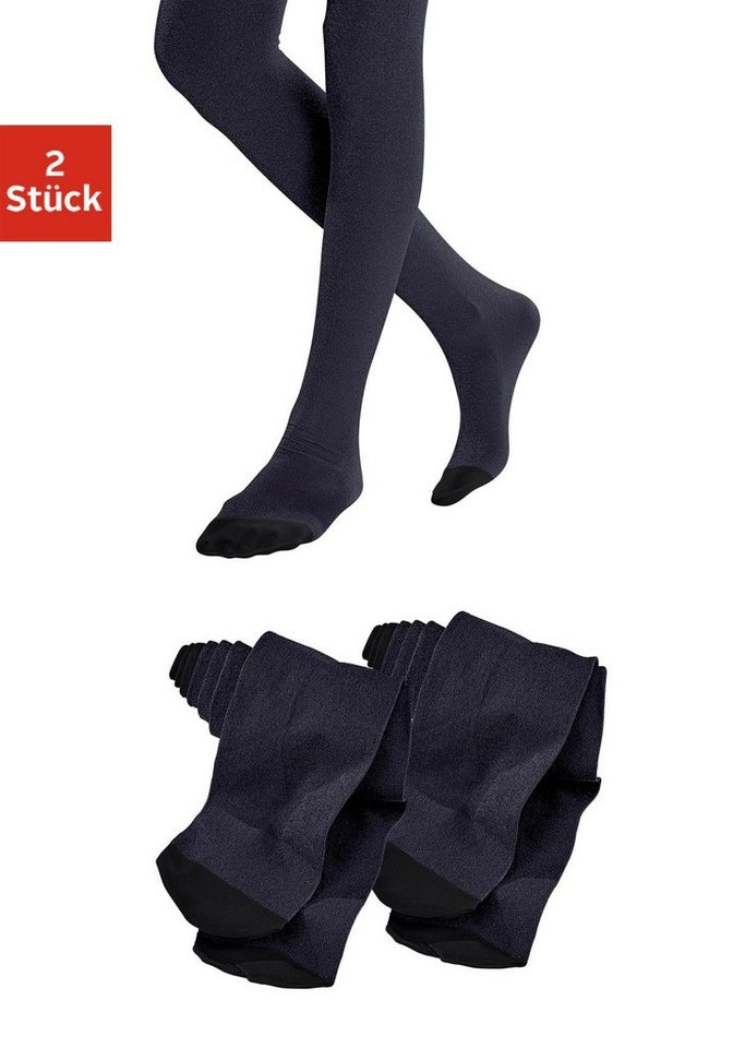 Feine Lurex Kinderstrumpfhosen (2 Stück) in 2x schwarz mit lurex