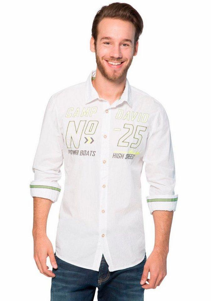 CAMP DAVID Hemd in white