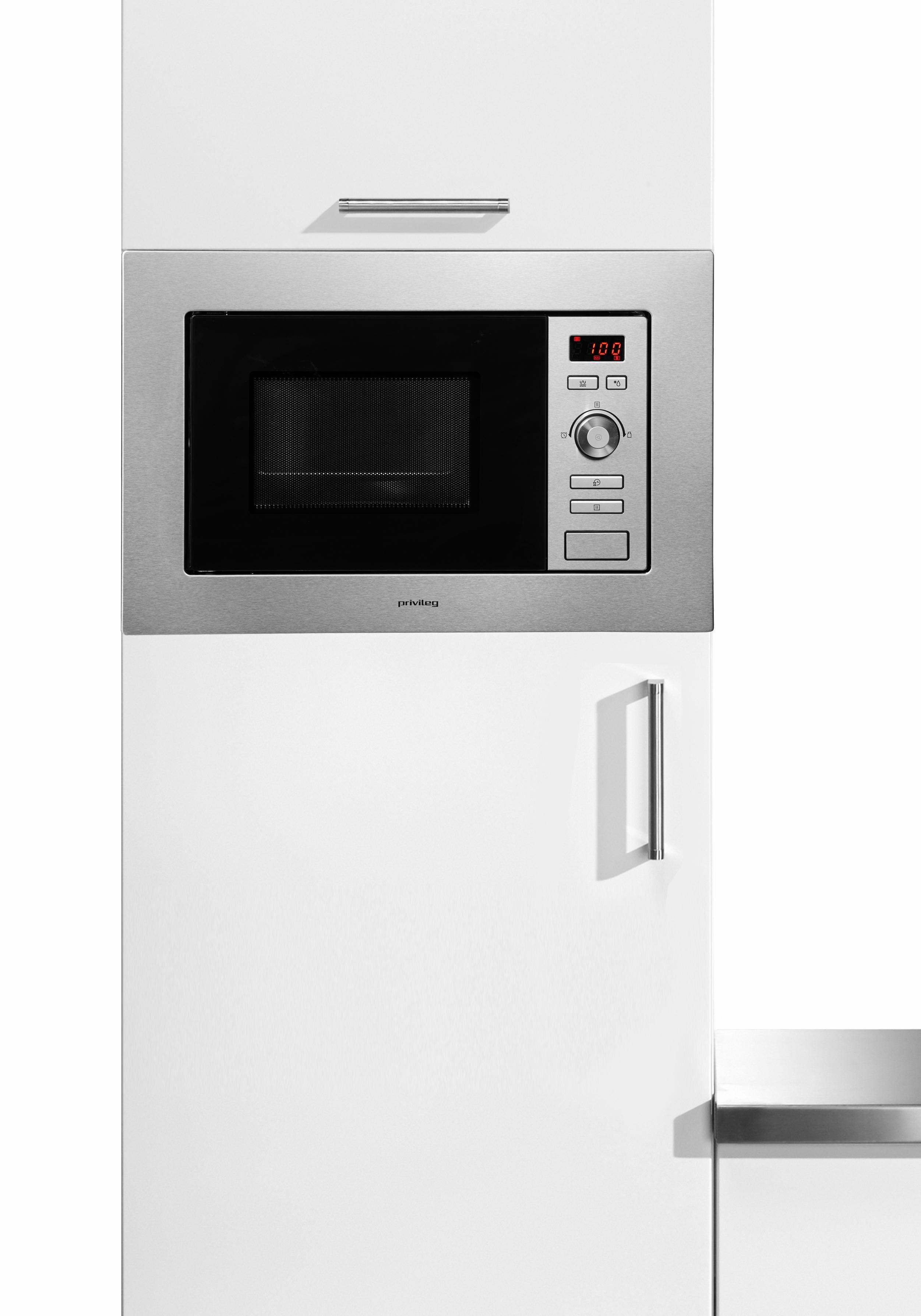 *Privileg Einbau-Mikrowelle, mit Grill, 20 Liter Garraum, 800 Watt Mikrowelle*