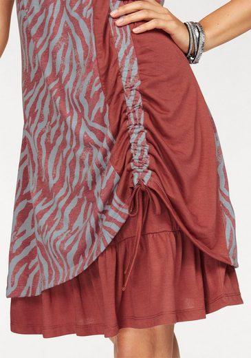 Boysen's Jerseykleid, im Lagenlook mit Raffung