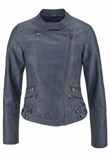 Boysen's Lederimitatjacke, in Biker-Form