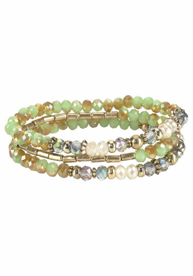 J. Jayz Armband Set mit Zierperlen in grün
