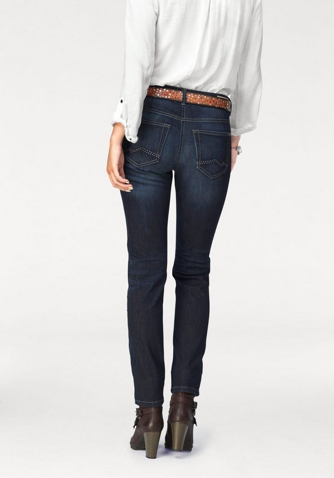 MAC 5-Pocket-Jeans »Carrie Pipe« Skinny in blue-stone