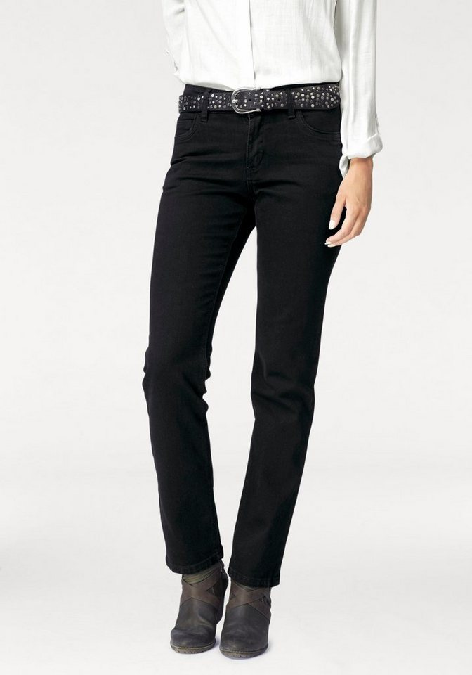 Paddock's Gerade Jeans »Tracy« in black