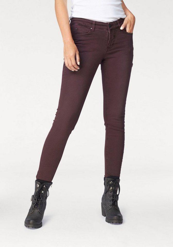MAC Gerade Jeans »Dream Skinny« Zaubert die Figur eine Größe kleiner , gewohnte Größe bestellen in bordeaux