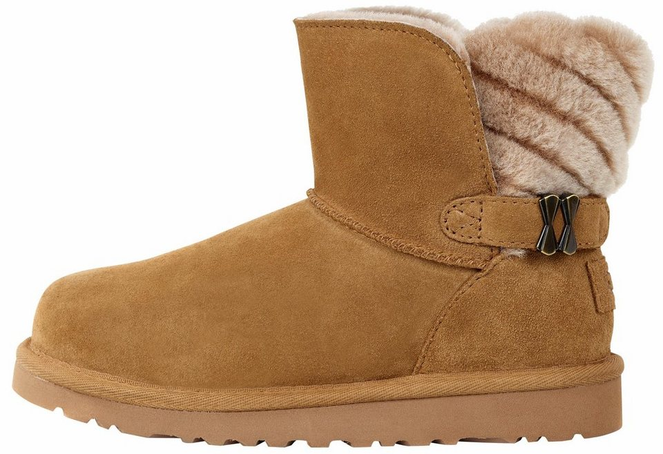UGG »Analia« Stiefel im Art-Deko Design in chestnut
