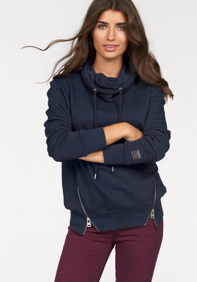 Cross Jeans® Sweatshirt Reißverschlüsse in marine