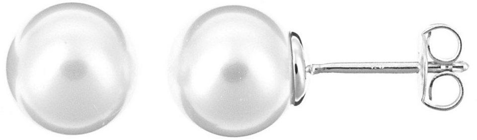 XENOX Paar Ohrstecker »Pearl, XS5130« mit imitierter Perle in Silber 925-weiß