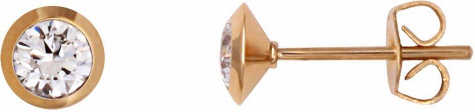 XENOX Paar Ohrstecker »X2431G« mit Zirkonia in goldfarben