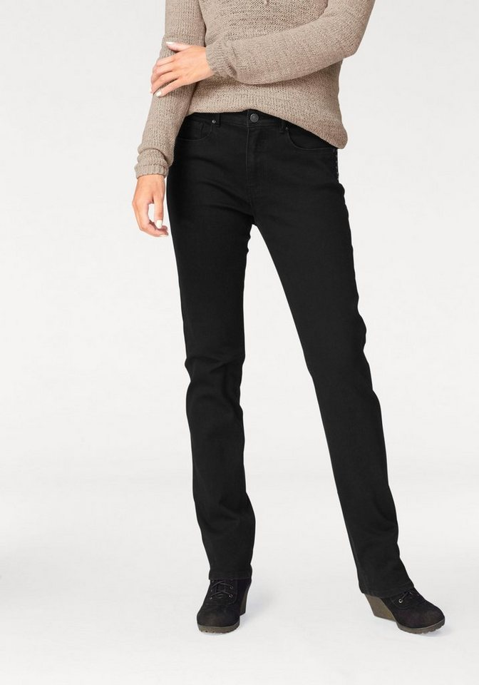 H.I.S 5-Pocket-Jeans »Coletta« Nieten in black