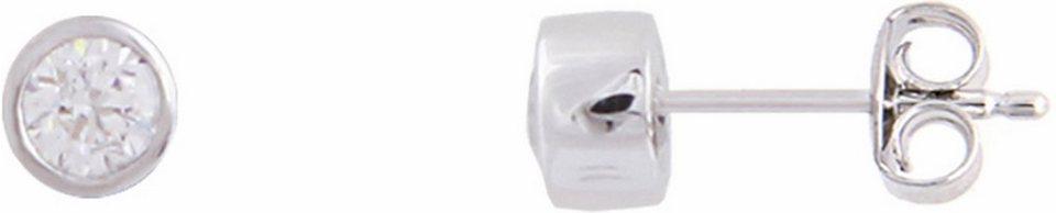 XENOX Paar Ohrstecker »Silver Circle, XS7156« mit Zirkonia in Silber 925