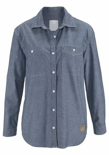 Cross Jeans® Jeansbluse, Klassisches Hemd