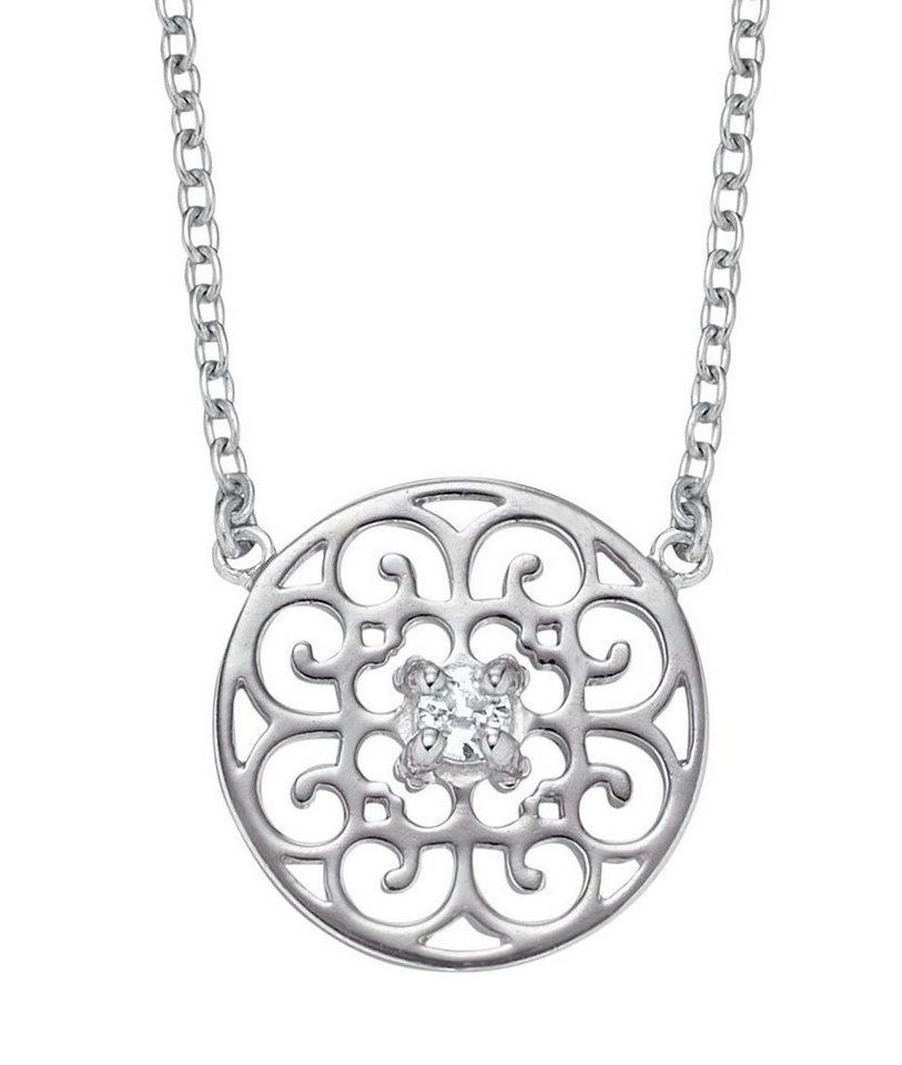 Engelsrufer Kette mit Anhänger mit Zirkonia, »Ornament, Indian Summer, ERN-ORNA-ZI« in Silber 925