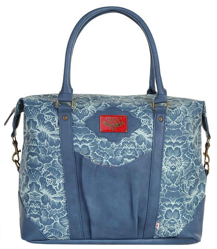 blutsgeschwister Damen Shopper »travel fever carpetbag« in blau