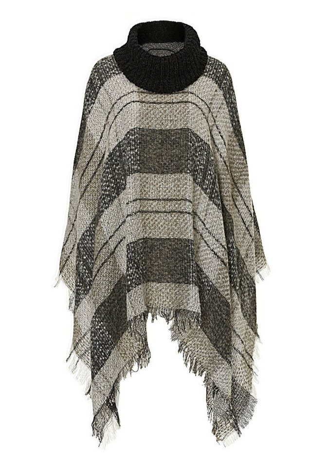 Betty Barclay Poncho in Taupe/Beige - Braun