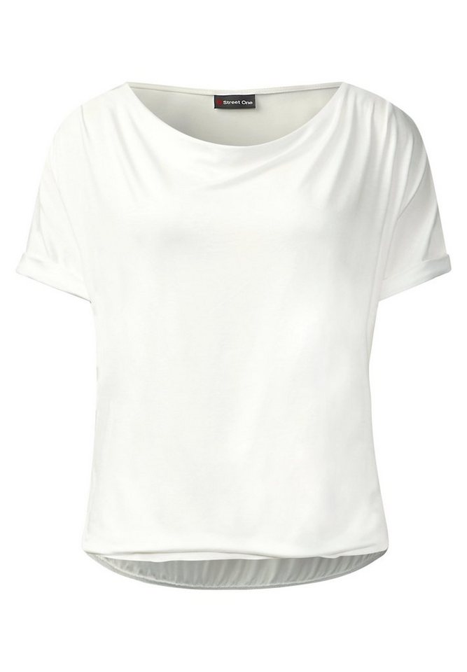 Street One Wasserfall T-Shirt Belina in off white