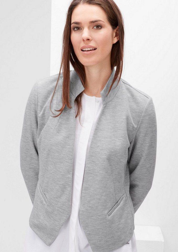 TRIANGLE Sweat-Blazer in modischer Shape in grey melange