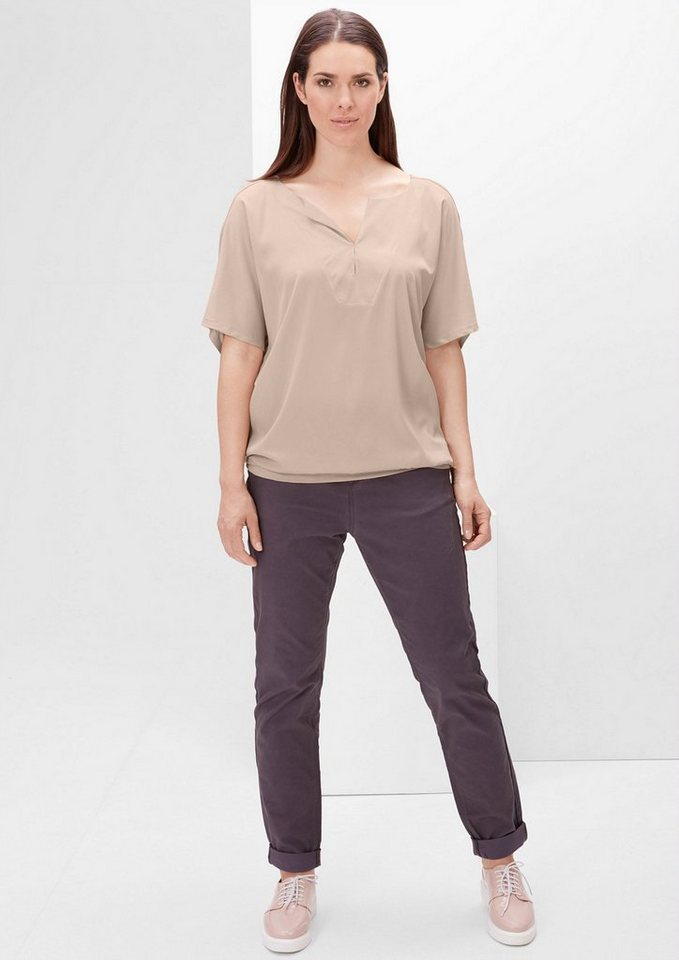 TRIANGLE V-Neck-Blusenshirt in nude