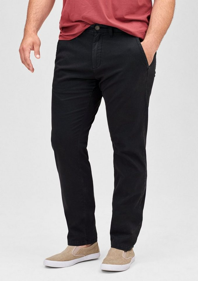 s.Oliver Scube Relaxed: Samtige Stretch-Hose in charcoal