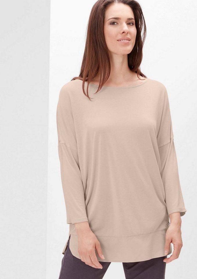 TRIANGLE 3/4-Arm-Shirt mit Blusen-Details in nude