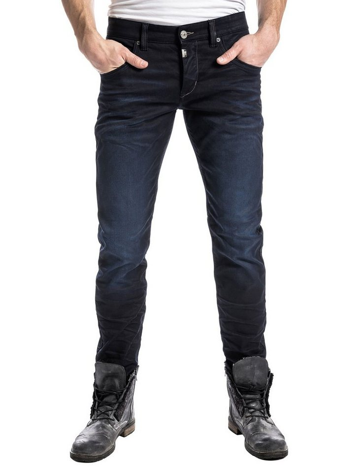 "TIMEZONE Jeans »EduardoTZ ""3980 indigo black wash""« in indigo black wash"