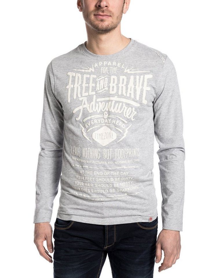 TIMEZONE T-Shirts (langarm) »TheStandardLSTZ« in paloma grey melange